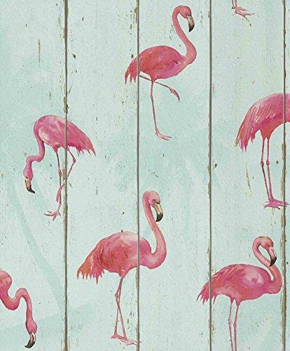 tapete-flamingos-auf-holz-53cm-x-1005m-vliestapete-rapportversatz-3200-cm-hoch-waschbestandig-lichte