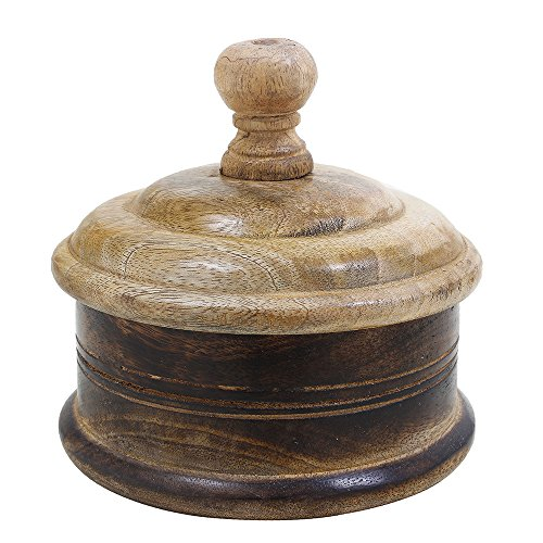 Wooden Canning Jar Sugar Pot Canister Storage Box Container with Lid Kitchen Decor Accessories (Pretty Plastic Jars compare prices)