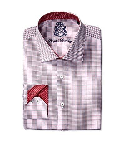 English Laundry Men's Mini Check Dress Shirt