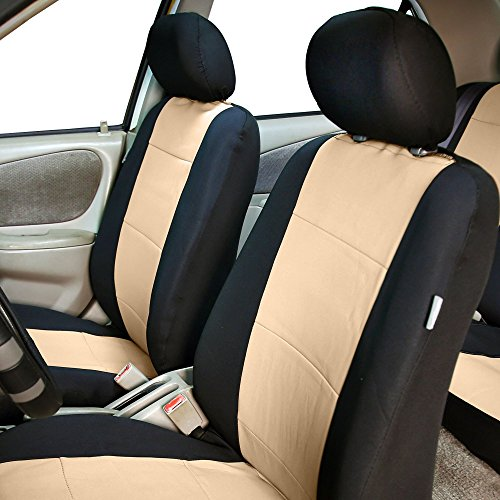 fh fb0831115 neoprene waterproof car seat covers full set airbag compatible split bench. Black Bedroom Furniture Sets. Home Design Ideas