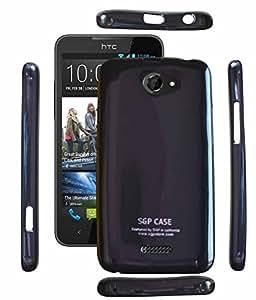 FUSON PREMIUM SMOOTH SILICON IMPORTED BACK COVER FOR HTC DESIRE 516 - BLACK
