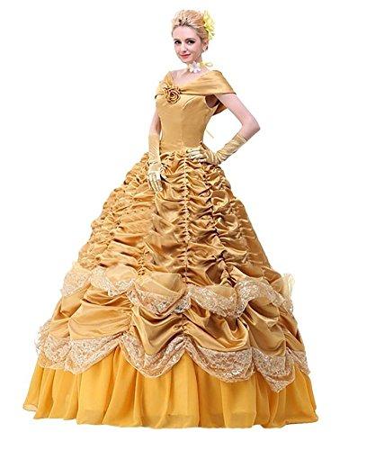 Halloween 2017 Disney Costumes Plus Size & Standard Women's Costume Characters - Women's Costume Characters Women's Halloween Deluxe Princess Belle Costume Custom Size