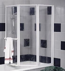 Schulte D1510 Badewannenfaltwand Badewannenaufsatz Duschwand 3tlg. 1268x1400 mm, Kunstglas, Profilfarbe alunatur  BaumarktKundenbewertung: