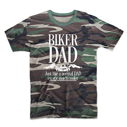 Biker Dad Just Like A Normal Dad Except Much Cooler Camuffare Uomo T-Shirt Maglietta Camo XX-Large