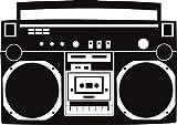 Boombox wall decal removable radio sticker hip hop rap bboy breakdance