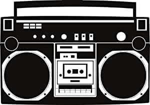 Boombox wall decal removable radio sticker hip for 1234 get on the dance floor download mp4