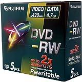 Fujifilm P10DVMGE02A - FUJI DVD-RW JEWEL CASE 5 PACK 4.7GB 2X