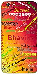 Bhavika (Cheerful Expression) Name & Sign Printed All over customize & Personalized!! Protective back cover for your Smart Phone : Moto E-2 ( 2nd Gen )