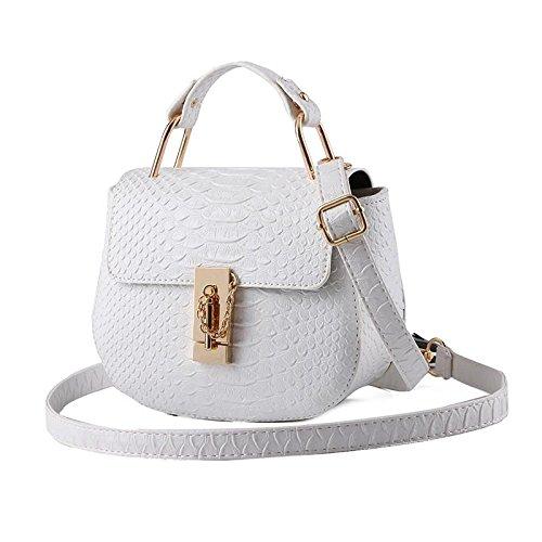 Forma rotonda fresca piccola coreana PU cuoio donne spalla borsa Messenger , pure white