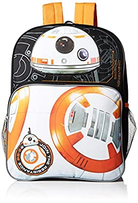 Star Wars Boys' Disney BB-8 Multi Compartment 16 Inch Backpack from Accessory Innovations Children's Apparel