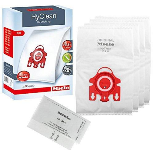 Véritable Miele FJM Hyclean 3D efficacité Aspirateur Sacs Poussière Aspirateur (1, 2, 3, 4 ou 5 boîtes + Optionnel Désodorisants) - 1 Boite de 4 Sacs FJM