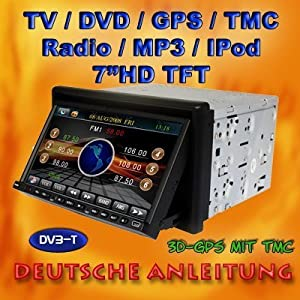 2 din doppel din autoradio dvd navi navigation gps dvb t tv dvd. Black Bedroom Furniture Sets. Home Design Ideas