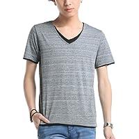 (ベストマート)BestMart レイヤード風 Tシャツ カットソー メンズ 半袖 Vネック 607385