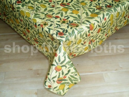 WILLIAM MORRIS FRUITS OILCLOTH TABLECLOTH 300CM X 135CM
