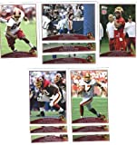 2009 Topps Washington Redskins Complete Team Set of 11 cards including Santana Moss, Antwaan Randle El, Chris Cooley, Clinton Portis, and more