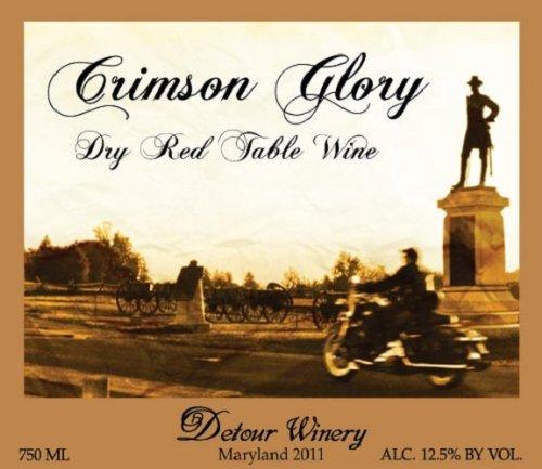 2011 Detour Crimson Glory Dry Red Table Wine 750 Ml