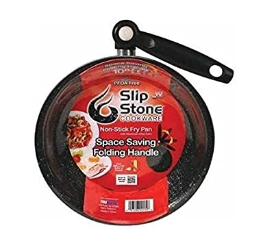 "Slip Stone Cookware 10"" Non Stick Cook Fry Pan Folding Handle As Seen On TV NEW"