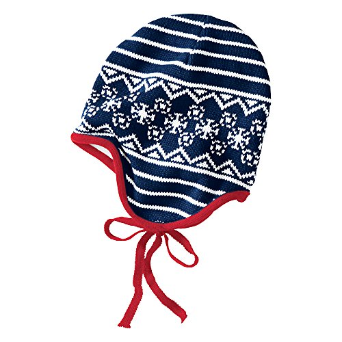Hanna Andersson Baby Nordic Knitting Pilot Cap, Size S (1-3 Years), Navy front-775366