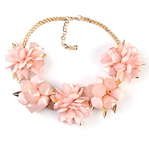 twopages-spring-pink-floral-statement-choker-collar-beach-necklace-jewelry-gifts-for-women