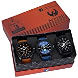 #2: Armado Combo pack of 3 Analogue Blue, Black Dial Mens Watch-Ar-621251