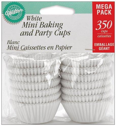 Wilton Baking Cups, Mini, White, 350-Count (48 Mini Cupcake Pan compare prices)