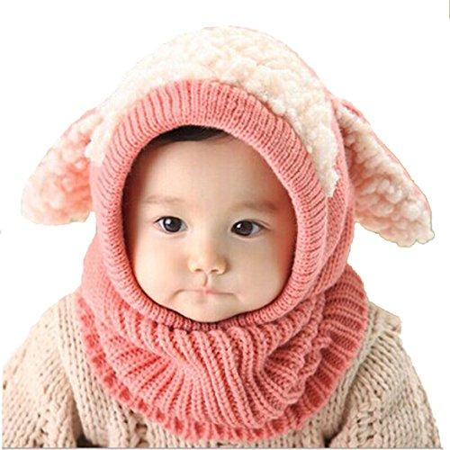 Datework Winter Baby Kids Girls Boys Warm Woolen Coif Hood Scarf Caps Hats