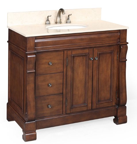 save on westminster 36 inch bathroom vanity travertine brown