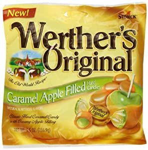 Werther's Original Caramel, Apple Filled, 5.5-Ounce (Pack of 6)