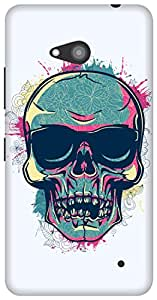 The Racoon Grip Tripster Skull hard plastic printed back case/cover for Microsoft Lumia 640