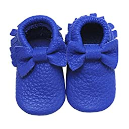 Mejale Soft Soled Leather Baby Moccasin Tassel Slip-on Infant Toddler Shoes