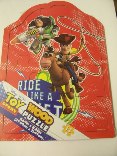 Disney Toy Story Shaped 12 Piece Wood Puzzle ~ Ride Like a Rocket - 1