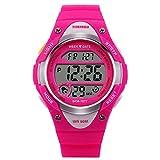 Foopot腕時計 ブランド キッズ腕時計 ガールズ/ボーイズウォッチ アナデジウォッチ 防水 クロノグラフ アラーム カレンダー ストップウォッチ機能付き 子供のプレゼント (ピンク)