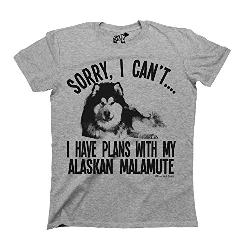 Sorry I Cant I Have Plans With My Alaskan Malamute Dog T-Shirt Uomo e Donna Unisex Fit
