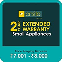 Onsite Secure 2 Year Extended Warranty for Small Appliances (Rs 7001 - 8000)