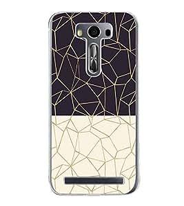 Black and White Zig Zag Pattern 2D Hard Polycarbonate Designer Back Case Cover for Asus Zenfone 2 Laser ZE550KL (5.5 INCHES)