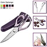 3Cworld Multifunction Kitchen Shears/Scissors - Heavy Duty (Take Apart) Kitchen Tool With Dozens Of Uses (Purple)