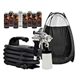 Maxi-Mist PRO BLACK Sunless HVLP Tanning TENT Machine System Airbrush MaxiMist