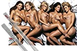 Poster + Hanger: Pretty Girls Poster (36x24 inches) FHM, High Street Honeys and 1 set of 1art1® Poster Hangers