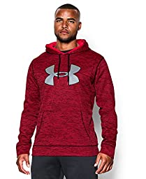 Men\'s Under Armour Storm Armour Fleece Twist Hoodie, Red (600), Small