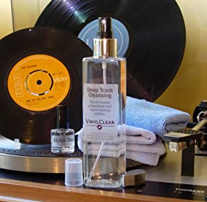 Professional LP Record Solution. The Vinyl Record Restoration & Cleaning Kit (250ml) with Stand, Full Sized Microcloths & Stylus Cleaner Fluid