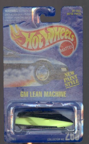 Hot Wheels 1992-268 Gm Lean Machine All Blue Card NEW Paint Style 1:64 Scale - 1