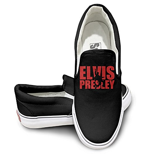 TAYC Elvis Presley Comfortable Flats-Shoes Black