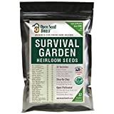 15,000 Non GMO Heirloom Vegetable Seeds Survival Garden 32 Variety Pack