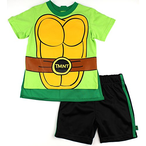 TMNT Toddler Green T-Shirt with Cape Shorts Set