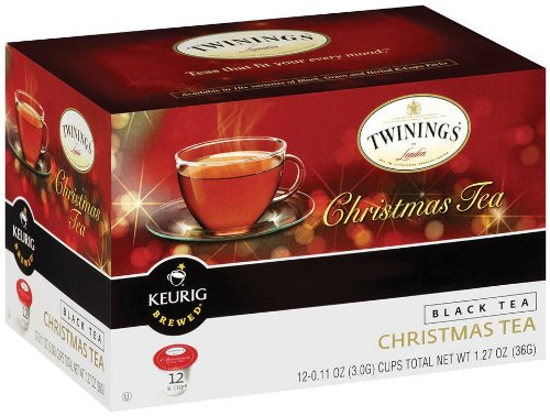 Twinings Of London K-Cup Portion Pack For Keurig K-Cup Brewers Christmas Tea, 72 Count (Pack Of 6)