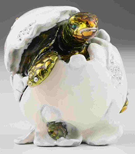 Turtle-in-Eggshell-Faberge-Styled-Trinket-Box-Handmade-Decorated-with-Swarovski-Crystals