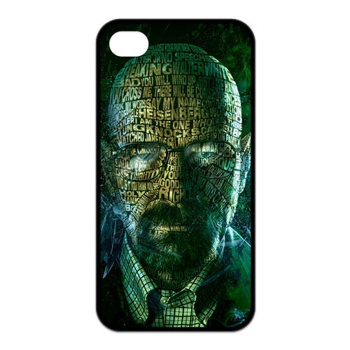 Kingdom Design Hot Popular TV Show Breaking Bad Unique Durable Rubber Iphone 4 4s Cover Case Black Friday & Cyber Monday 2014
