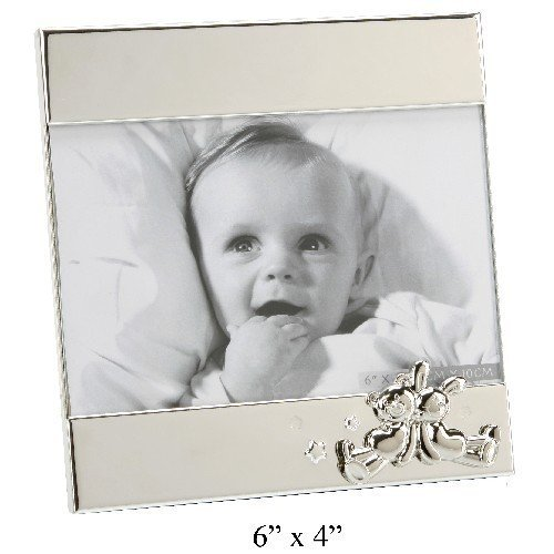 Personalised Photo Frame with Embossed Teddy & Rabbit 6
