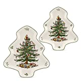 Spode Christmas Tree 2-Piece Tree Shaped Nesting Dish Set