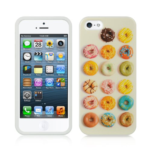 Dream Wireless Compatible Tpu In-Mold Decorating Case For Iphone 5/5S - Retail Packaging - Donuts